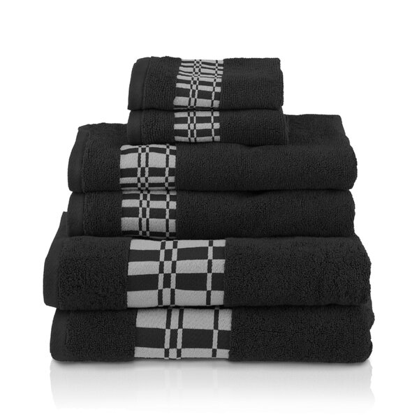 6 Piece 100% Cotton Towel Set by Red Barrel Studio